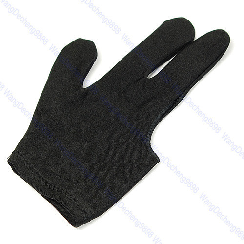F85 Free Shipping 5pcs/lot Cue Billiard Pool Shooters 3 Fingers Gloves Black(China (Mainland))