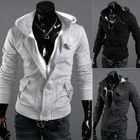Free Shipping 2014/7/3 New Arrival Autumn Cotton Casual Men's Hoody Size M/L/XL/XXL/XXXL#531