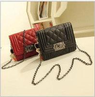 Free Shiping Hot Plaid Design Min Size Flip Cover PU Leather Women Clutch Handbag Shoulder Tote Sling Bag