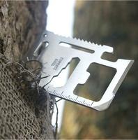 3pcs/lots 4.5*6.8cm Multi-use Multi-function Mini Portable pocket knife outdoor survival knife Camping knife lifesaving tools