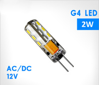 AC/DC 12v led g4 lamp  free shipping High Power SMD3014 2W  360 angle LED light Bulb lamp