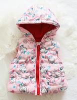 2014 Retail Girls' flowers Cotton Vest Girls Cute Waistcoat Kids Vest Children Waistcoat minecraft autumn lace Free Shipping