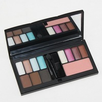 2014 New PRO 12 Color Makeup Set 11 Color Eyeshadow 1 Color Blushes Platte Set Beauty Cosmetics Free Shipping