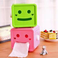 Y017 cartoon smiley Roll Tissue home square tissue box tray pumping