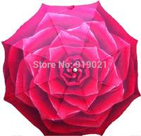 Korea new design womens umbrella Rose Umbrella flower 3 color high quality