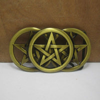 Celtic knot belt buckle western belt buckle with pewter finish FP-03427 suitable for 4cm wideth belt with continous stock