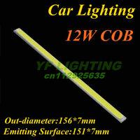 Strip Car lighting source 12W COB lamp bulb 156*7mm high power led diode white&warm white