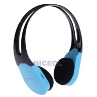 NI5L USB Port Wireless Headset Headphone MP3 Player Support TF Card FM Green