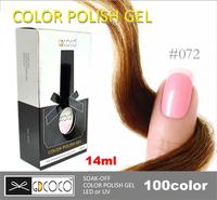 2014 New!!  Gel Lacquer For Nail GDCOCO LED UV Lamp Gel Nail Polish 100 colors 14ml 10pcs set Free Shipping  #30127-045
