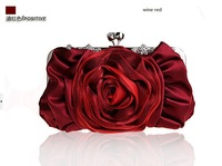 multicolor  new  women silk luxury handbag, female diamond bridal party Clutch Purse. women Chain tote