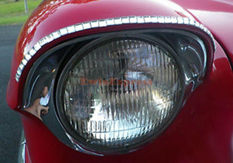 Silver Fashion 3D Car Diamond Eyeliner Decal Headlight Stickers Automotive Logo Eyelashes 20 pcs=10 pairs(China (Mainland))