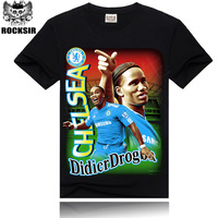 2014 plus size Men's sports personality  football star cotton short-sleeved t-shirt and creative brand tide men's wholesale 3Dt