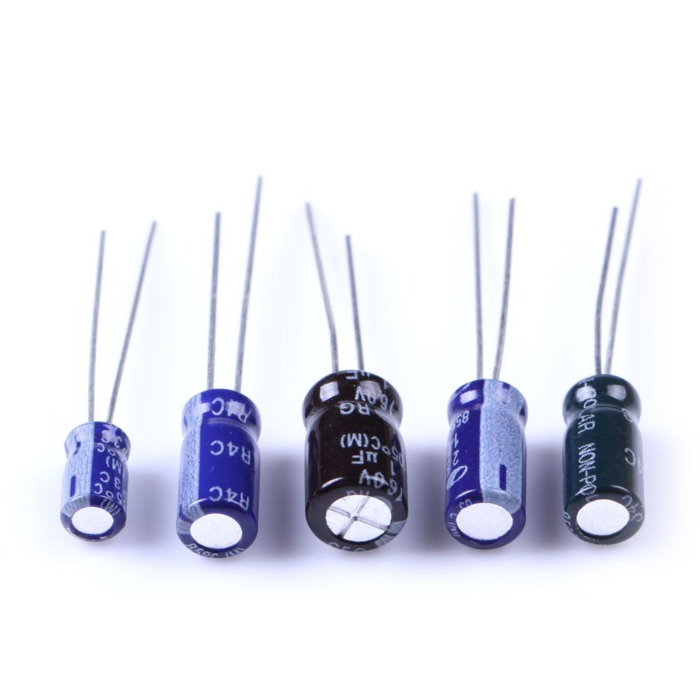 210 Pcs 25 Value 0.1uF-220uF Electrolytic Capacitors Assortment Kit Set BS88(China (Mainland))