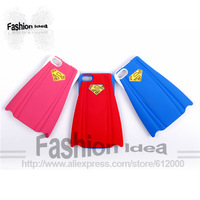 Free shipping silicone superman phone case for iphone 5