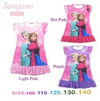 5pcs/lot Wholesale Frozen Elsa & Anna Dress for Girls Casual Baby Summer Sundress Kids 2014 New Children's Wear Toddler Clothing