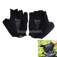 Black Cycling Bike Sports Bicycle Durable Wearable Half Finger Glove Sz XL H1E1