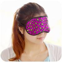 new arrival leopard print silk ultra-thin sleeping eyes mask