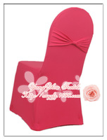 free shipping hot pink spandex chair cover with bow /lycra chair cover with bow at back