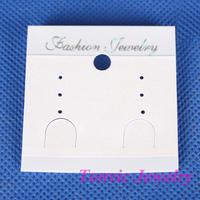 Wholesale 300 White Plastic Jewellery Earring Display Card 5X5.3cm