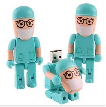 Real Full Capacity !Doctor Cartoon USB Flash Memory Pen Drive Stick 8GB U46(China (Mainland))