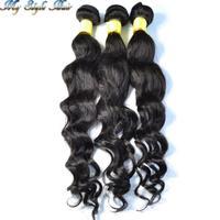 peruvian virgin hair body loose wave extensions mixed length 4 or 3pcs/lot,unprocessed human hair curly weave bundles,H&J hair