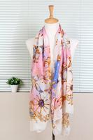 1PC 100*180cm Women favorite Ocean colorful starfish Theme Scarves Wrap free Ship 100% Viscose/WJ-155