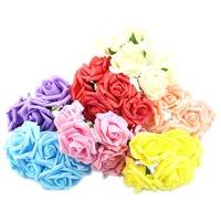 Free Shipping Wedding Bouquet Latex Rose Flower Head Posy Party Bridal Bridesmaid Decor