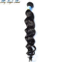 Queen Malaysian Remy virgin loose wave hair 1pc lot unprocessed wavy curly hair cheap Luffy New Star hair bundles 100g/piece