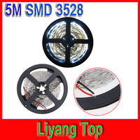 Free shipping SMD 3528 Flexible LED Strip Light Non-Waterproof for Cristmas Car Home Decoration  5M/roll 300 LEDs Cool White