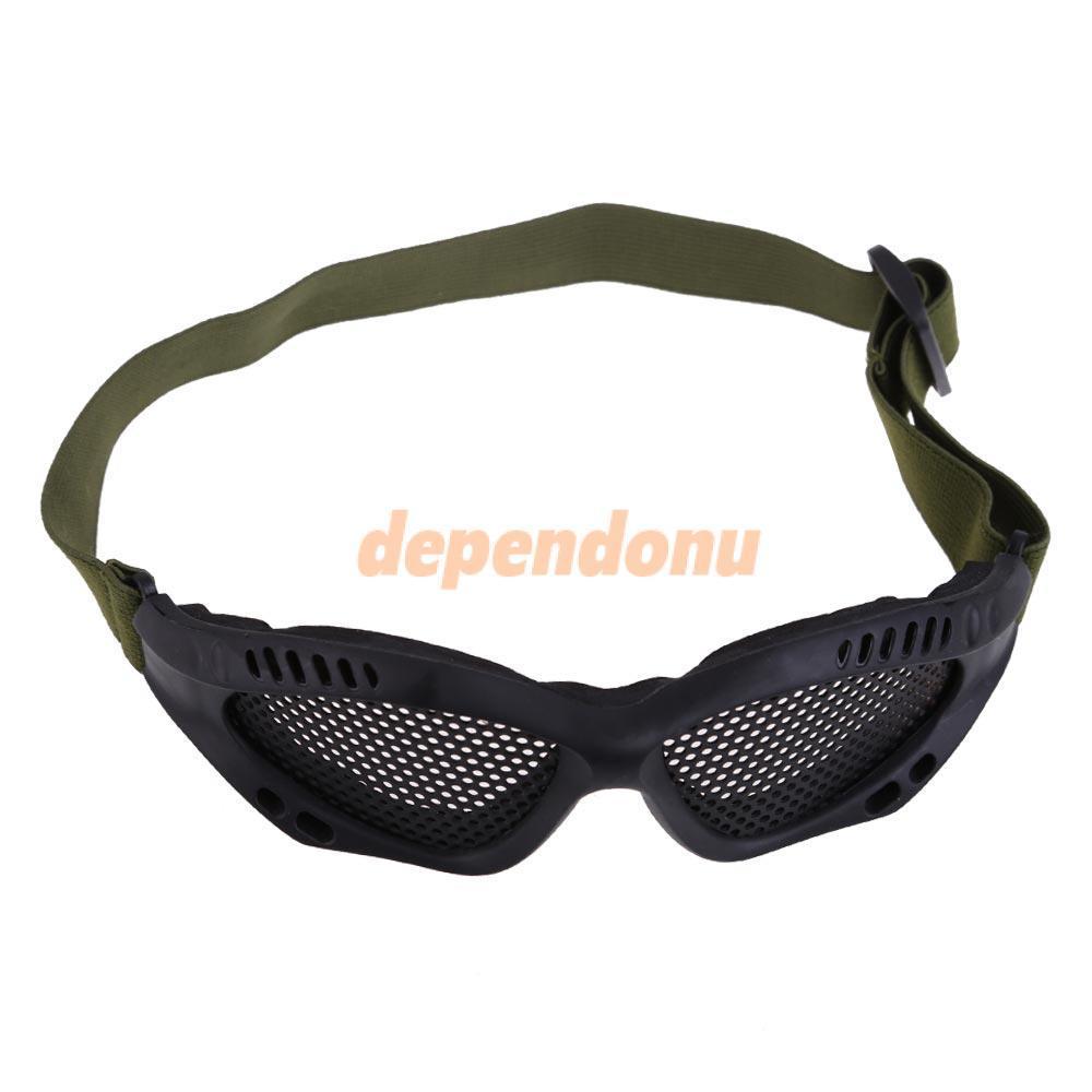 Тактический страйкбол стали сетка глаза защитные очки очки очки черный