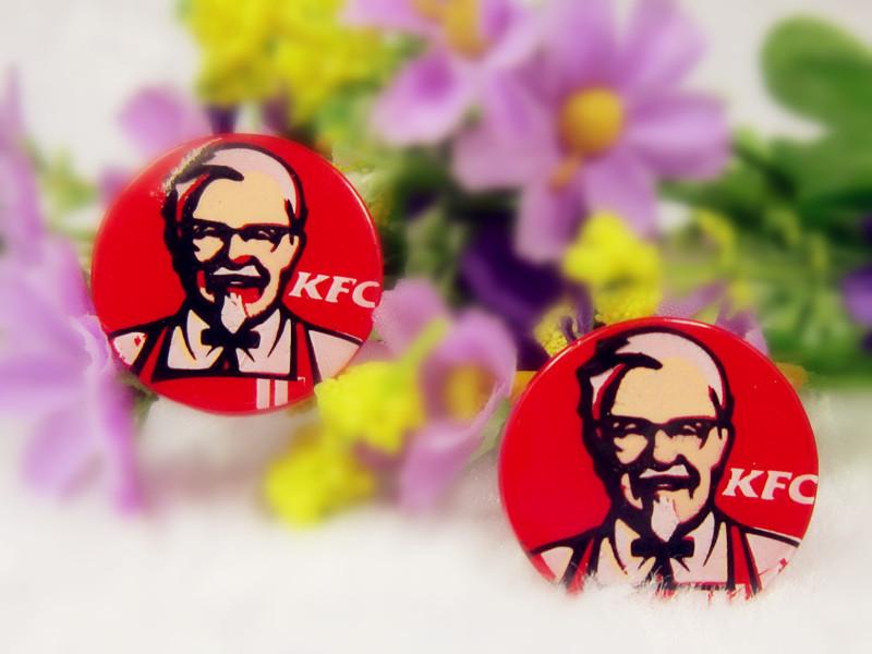 Kfc Logo History Resin Kfc Logo Cabochons