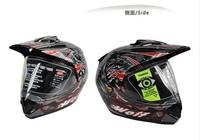 Free shipping ANKED-X370 off-road helmet full tank helmet helmet helmet T370 Black WOLF-1