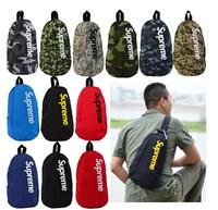 supreme diagonal pockets canvas shoulder bag book bag student backpack bag men and women couple