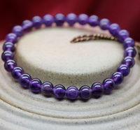 Min order $15 new fashion 1 laps 6mm purple crystal beaded bracelet for girls  best selling best gift