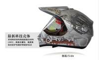 Free shipping TANKED tank helmet motorcycle helmet cross helmet full face helmet T340 Silver T