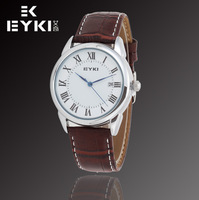 New EYKI Brand Men's Casual Watches Auto Date,High Quality Leather Watches,with MIYOTA 2035 Japan Movt,12-month Guarantee