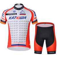 Lowest Price! !Wholesale!!2014 KATWA Team Cycling clothing /Cycling wear/ Cycling jersey short sleeve (Bib) Short Suite