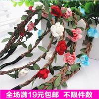 Drop Shipping free shipping Hot Sale New Fashion Womens Bohemia Beach Flower Hair Bands Headband Hair Accessory Headwear