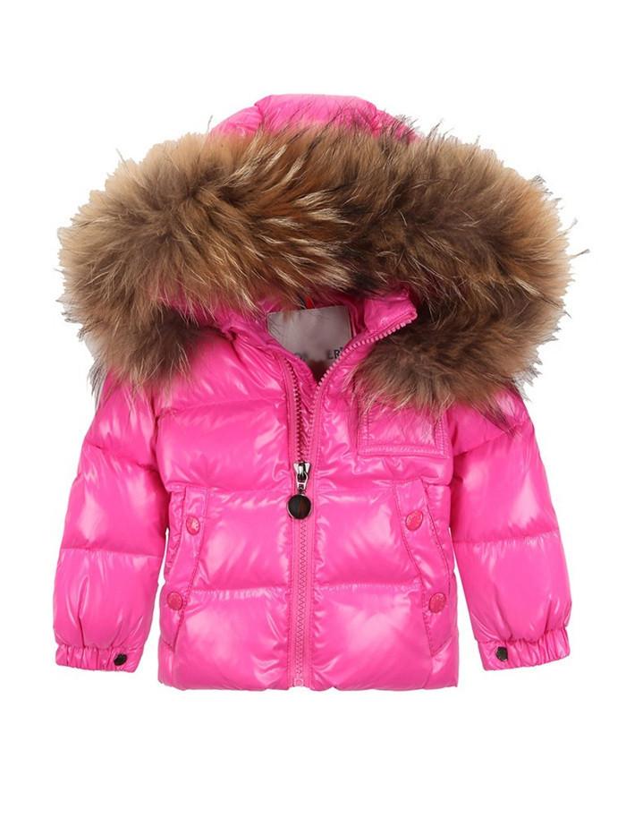 Luxury brand kids girls down jackets european british london england style children winter fur collar coat hot fashion clothing(China (Mainland))
