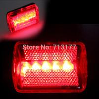 20pcs/lot,Warning lights  5 LED 7  Flash Pattern  Light Cycling  bicycle tail light Mountain bike lights,Free shipping