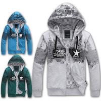 2014 Autumn and winter fashion Men's Coats plus size Hoodies Sweatshirts Sports Hip hop Streetwear Y0279