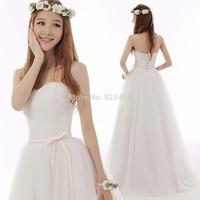 New Fashion 2014 new v-neck  sweet princess butterfly floor-length off the shoulder sleeveless wedding dress 2014