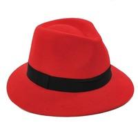 6pcs/Lot COOL Women Winter Wool Felt Fedora Hats Designer Womens Wool JAZZ Fedoras Caps Ladies Spring Trilby Cap Hat Headgear