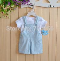 2 pcs set Baby tops romper t-shirts overall 12sets/lot#3684