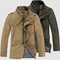 2014 New England Spring and Autumn men's jacket men jacket and long sections Slim cotton jacket man jacket free shipping