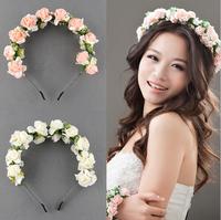 Flower Garland Floral Bridal Headband Hairband Wedding Prom Hair Accessories Photography Photo