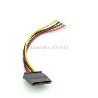 4-Pin Molex IDE to 15 Pin Serial ATA SATA HDD Power Adapter Cable