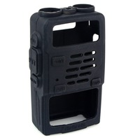 Black Soft Rubber Handheld Radios Case Holster for  BF-UV5R UV-5RV UV-5RE UV-985 RETEVIS RT-5R RT-5RV