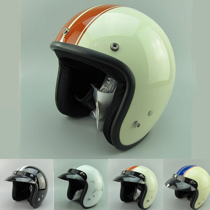 free shipping open face casco capacete vintage motorcycle helmet scooter jet helmets(China (Mainland))