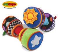 multicolor plush dumbbell baby training toys developing motor skills 2pcs/lot